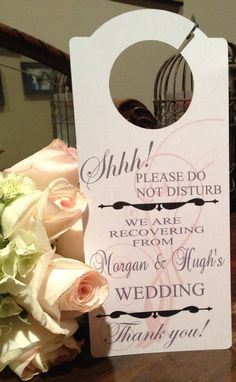 Wedding Guest Hotel Door Hanger by SugarGroveCottage on Etsy, $10.00