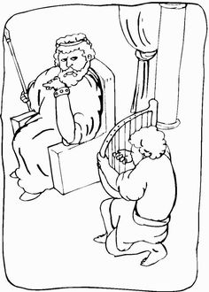 Free Coloring Pages Of David Spares Saul Sketch Page