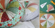 DIY Sprocket Pillows Tutorial.   This would be a wonderful way to use material from a Dad or Grandpa's many shirts to make a memory pillow for those who loved him and miss him. I've been struggling with which shirt, of my deceased husband, to use for which child/grandchild's memory pillow, this is the answer! I'm going to make them all memory pillows out of pieces from each of his favorite shirts!