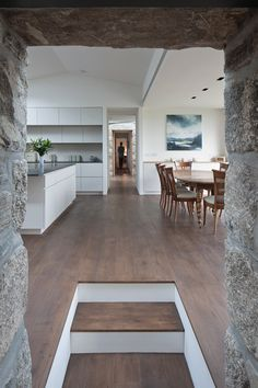 Transforming an old and discarded cottage into a lovely modern home is a task that requires both imagination and an understanding of the local architecture and heritage. The fabulous Torispardon… Old Cottage, Modern Cottage, Modern Farmhouse, Interior Architecture, Interior And Exterior, Interior Design, Scottish Cottages, Sweet Home, Stone Houses
