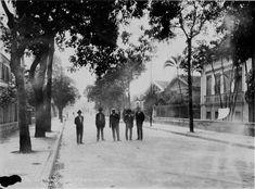 Rua Tonelero, Copacabana, em 1928. Foto: Augusto Malta.