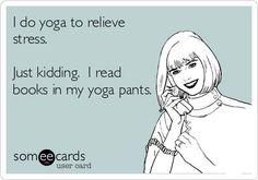 reading books in yoga pants