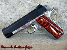 Customized  45 caliber metro arms 1911  Customized bobtail grip
