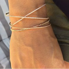 """""""Delicate arm party perfection from @willow_roe ✨ #jewelry #gold #14k #diamonds #whitediamonds #pave #dainty #delicate #armparty #armcandy #willowroe #bracelets"""" Photo taken by @thedaintyaddiction on Instagram, pinned via the InstaPin iOS App! http://www.instapinapp.com (08/05/2015)"""