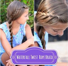 Casual hairstyle. Cute girl hairstyles