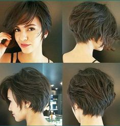 hair inspiration pixie Pixie-Bob-Cut Latest Short Haircuts for Women - Short Hairstyle Thin Hair Cuts, Bobs For Thin Hair, Short Hair Cuts For Women, Short Hair Styles, Bob Styles, Pixie Styles, Thick Hair, Pixie Bob Cut, Pixie Bob Haircut
