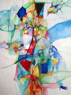 Watercolors of Dreams by Vassia Alaykova, via Behance