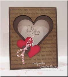 Jennifer's Sweet Designs: More Valentine Cards to Share...