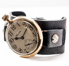 The Doughboy Watch Company - antique pocket-watches made into wrist-watches, how cool! Old Pocket Watches, Pocket Watch Antique, Watch Companies, Magpie, Wrist Watches, Antiques, My Style, Hamilton, Gifts