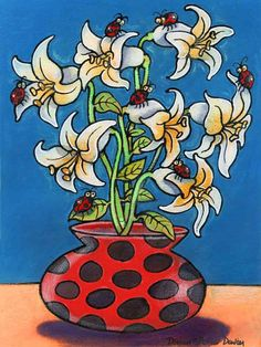 Ladybirds and Lilies English Artists, My Animal, Animal Paintings, Welsh, Lilies, Tigger, Disney Characters, Fictional Characters, Fun