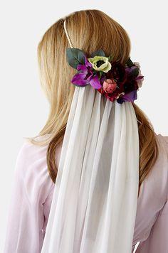 Stone Fox Bride silk floral halo.