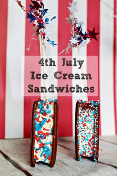 4th July Ice Cream Sandwiches
