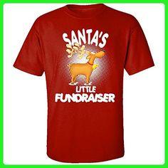 Santa's Little Fundraiser Christmas - Adult Shirt S Red - Holiday and seasonal shirts (*Amazon Partner-Link)
