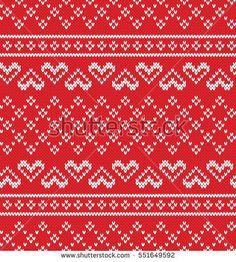 Jacquard Heart Seamless Knitting Pattern