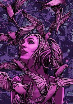 Dan Mumford answers 12 Questions about art - Optimum Wound Portrait Illustration, Digital Illustration, Graphic Illustration, Dan Mumford, Goth Art, Vector Portrait, Dark Art, Female Art, Vector Art