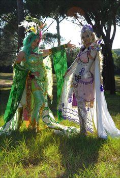 Videogame: Final Fantasy. Character: Rydia & Rose Farrell. Cosplayers: Giulia Presti & Tatiana Motta. From: Italy. Event: Cartoomics 2010. .