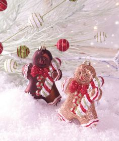 WTC 3-310, Melrose International. Gingerbread Man ornaments. #christmasHQ