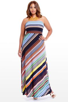 Dockside Stripe Maxi Dress