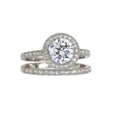 Halo Sparkles Ring and Band Set, $79
