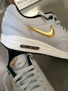 e6b601b461a Love my new Nike Air Max 1 Premium QS  - all white   gold everything