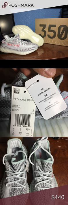 Adidas Yeezy Boost 350 V2 Blue Tint SZ 9.5 100% Authentic Purchased from Adidas.com/Yeezy December 16, 2017 Dead stock. Have no use for them. No trades Cash Only! adidas Shoes Sneakers Cheap Converse Shoes, Adidas Shoes, Shoes Sneakers, Wedding Converse, 350 V2, Blue Adidas, Yeezy Boost, Adidas Women, December