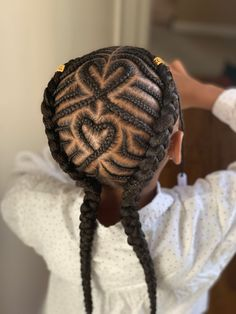Messy Braided Hairstyles, Lil Girl Hairstyles, Black Kids Hairstyles, Natural Hairstyles For Kids, African Braids Hairstyles, Hairstyles 2018, Bun Hairstyles, Evening Hairstyles, School Hairstyles