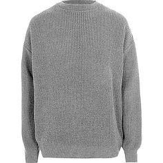 Pull pêcheur oversize gris - Pulls - Pulls/cardigans - Homme