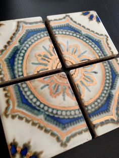 Horizon Ceramic Tile Coaster Set