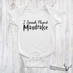 Harry Potter Baby Speaks Mandrake Bodysuit / Cute Harry Potter