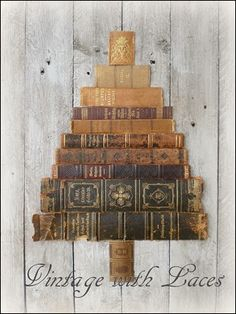 Repurposed Books Spine Christmas Tree                                                                                                                                                                                 More