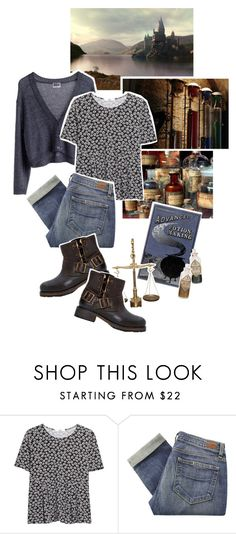 """""""The Epic Harry Potter Challenge: Potions Class"""" by giovanna1995 ❤ liked on Polyvore featuring MTWTFSS Weekday, MANGO, Paige Denim and Jeffrey Campbell"""