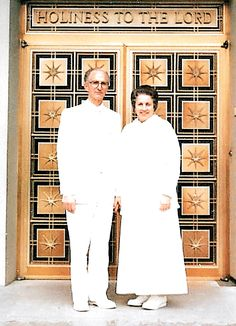 Leavitt and Rula in front of the Swiss Temple