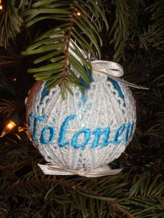 Embroidered and Personalized First Christmas by InitialImpressions