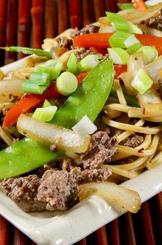 """Ground Beef Lo Mein   """"Dish is easy to put together and tastes like it came from a good Chinese restaurant. I made it with whole wheat spaghetti noodles. Will definitely be a repeat! Thank you!""""  #cheaprecipes #cheapmeals #budgetfriendly #budgetrecipes #frugalcooking #frugalmeals #cheapdinnerideas #cheap #budget #economical #frugal Quick Weeknight Dinners, Cheap Dinners, Frugal Meals, Budget Meals, Beef Lo Mein Recipe, Beef Sauce, Whole Wheat Spaghetti, Ground Sirloin, Dinner With Ground Beef"""
