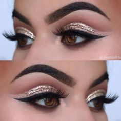 Cut crease makeup is the best way out if you are looking for something to go dramatic with! #makeup #makeuplover #makeupjunkie #eyemakeup