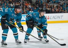 San Jose Sharks defenseman Matt Irwin and forward Chris Tierney (Feb. 7, 2015).