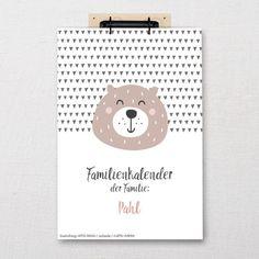 "Familienkalender ""Animals""   Fünf vor Zehn Bullet Journal, Rheinland, Ballpoint Pen, Wall Calendars"