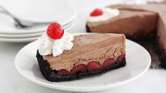 This frozen cherry chocolate dessert is drop-dead perfect for Valentine's Day!