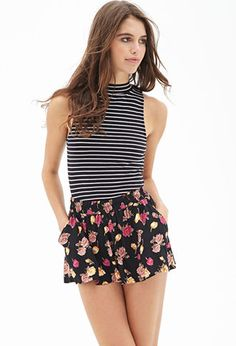 Floral Print Flowy Shorts   FOREVER 21 - 2000120124