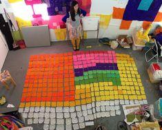 assembling granny squares