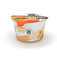 Peach Updated Chia_for website Nonfat Greek Yogurt, Ben And Jerrys Ice Cream, Greek Gods, Chia Seeds, Peach, Website, Desserts, Food, Tailgate Desserts