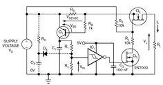 LIMITATORE DI CORRENTE CON AUTORESET Un semplice limitatore di corrente si trasforma in un interruttore di corrente con funzione di autoreset, il tutto con pochi semplici componenti aggiuntivi.