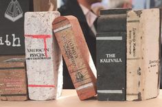 Brick Books are beautiful book objects that resemble old books, and are created from bricks. They are created by an Australian artists… American Psycho, Australian Artists, Bookends Diy, Brick, Books, Projects, Pictures, Crafts, Craft Ideas