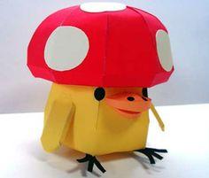 Paper Model - Relax Bear Mushroom Kiiroitori