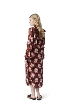 Monette Georgette Maxi Dress, Brandy Brown