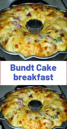 This Bundt Cake Breakfast recipe is perfect for brunch. Ham, tater tots and cheese are baked into a scrumptious slices of deliciousness. This BUNDT CAKE BREAKFAST from my grandmother recipes book seemed like it would Breakfast Bundt Cake, Breakfast Desayunos, Breakfast Items, Breakfast Dishes, Breakfast Recipes With Eggs, Easy Brunch Recipes, Yummy Breakfast Ideas, Breakfast Healthy, Frozen Breakfast