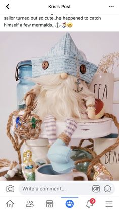 Crafts To Do, Arts And Crafts, Holiday Themes, Holiday Decor, Elves And Fairies, Gnome House, Fabric Dolls, Diy Art, Sticks