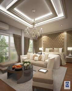 10 Contemporary Decor Tips for a Luxury Bedroom Design House Ceiling Design, Ceiling Design Living Room, Bedroom False Ceiling Design, Luxury Bedroom Design, Home Ceiling, Luxury Home Decor, Living Room Designs, Ceiling Ideas, Bedroom Ceiling