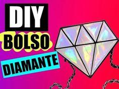 DIY Bolso con forma de DIAMANTE · SIN COSER!! FACILÍSIMO! - Mery - YouTube