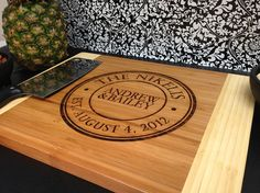 Personalized Cutting board Monogrammed Custom by LetsEngraveIt, $35.00
